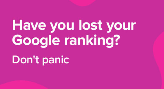 lost google rankings