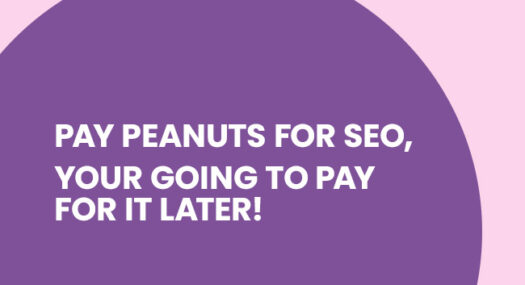 Pay Peanuts for SEO, your going to pay for it later!