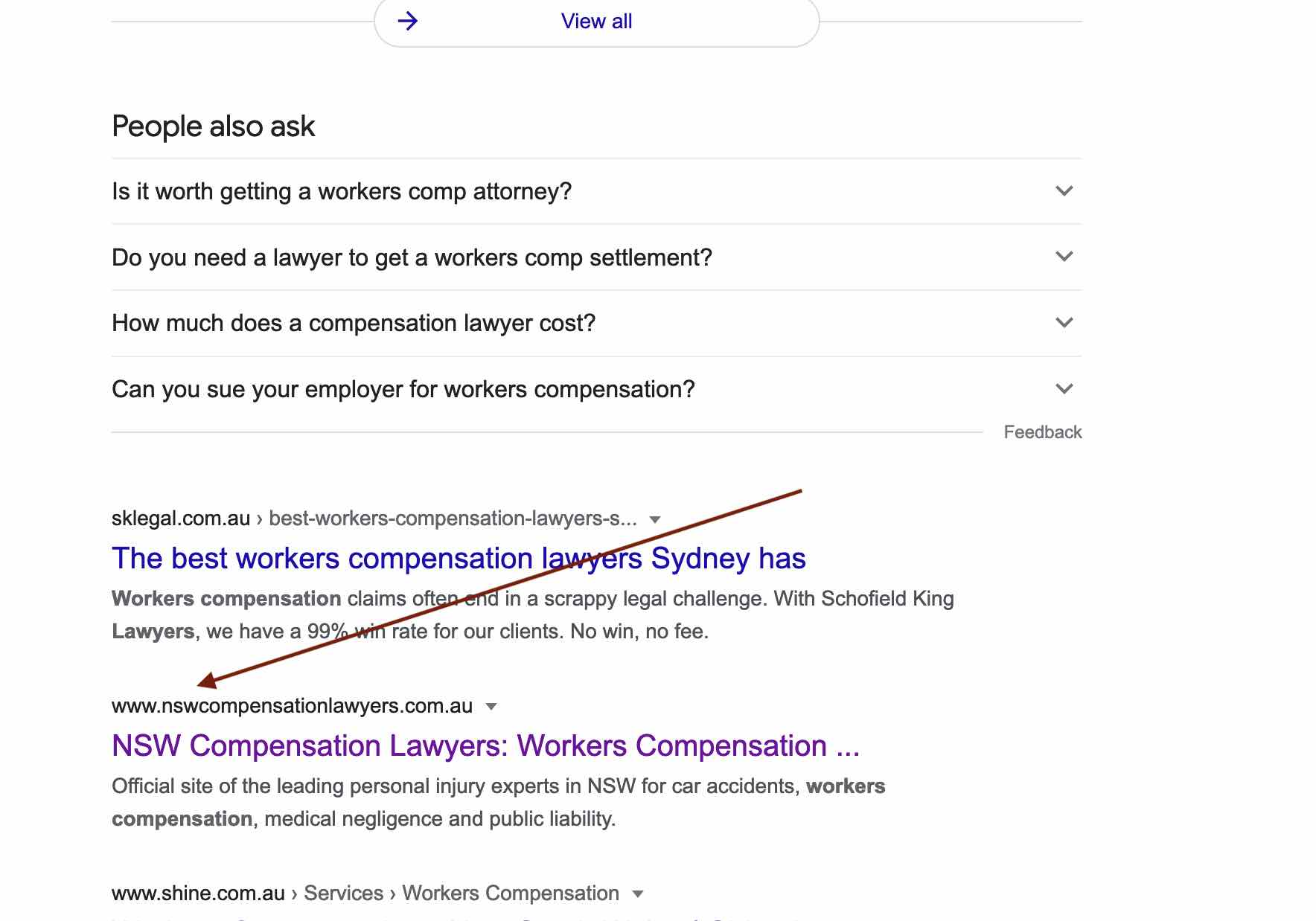 NSW compensation lawyers - case study