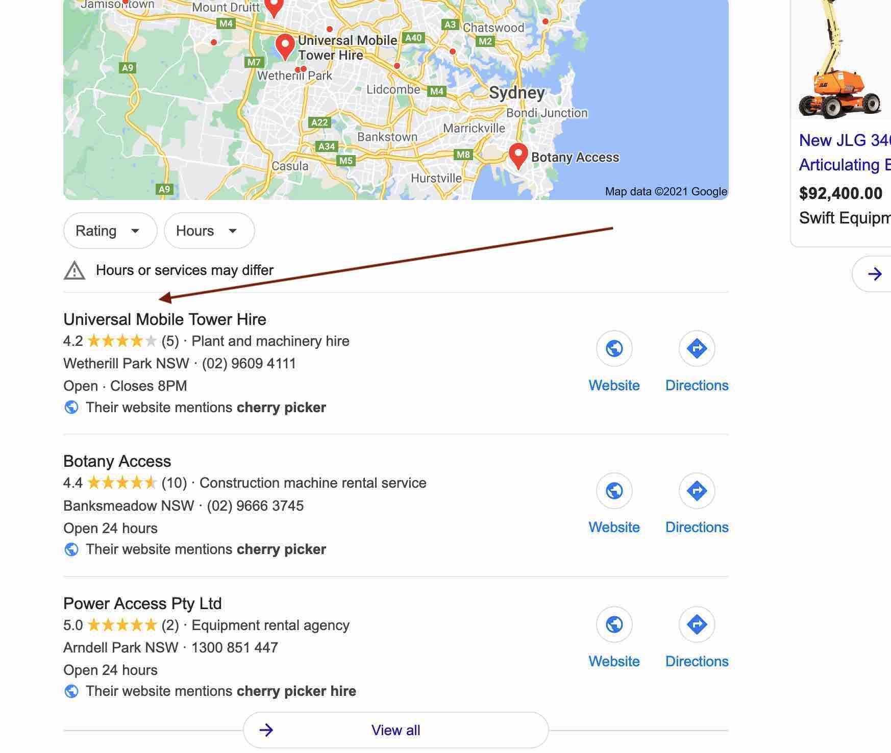 UMTH case study - google maps