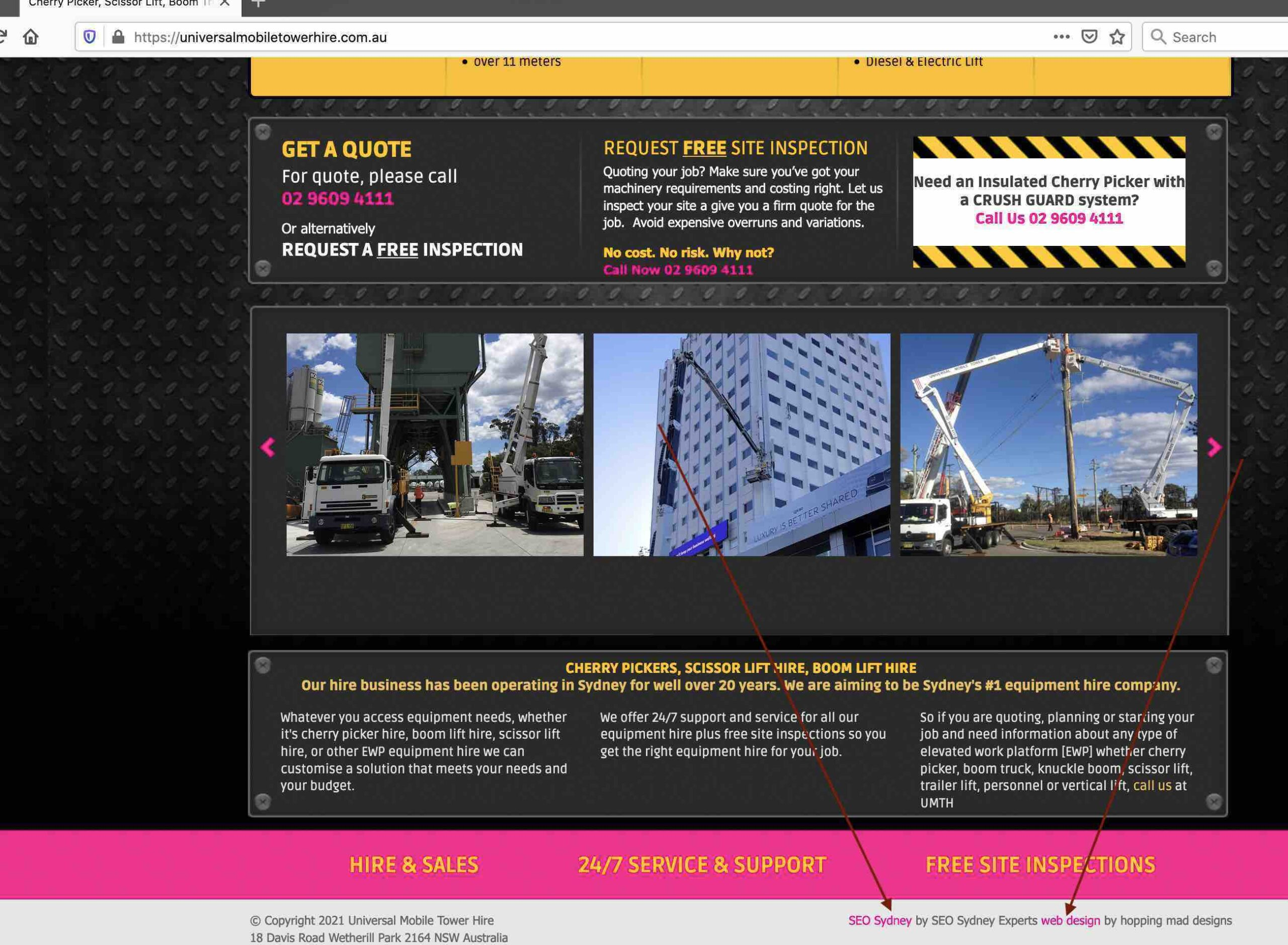 external links in footer example - seo sydney experts