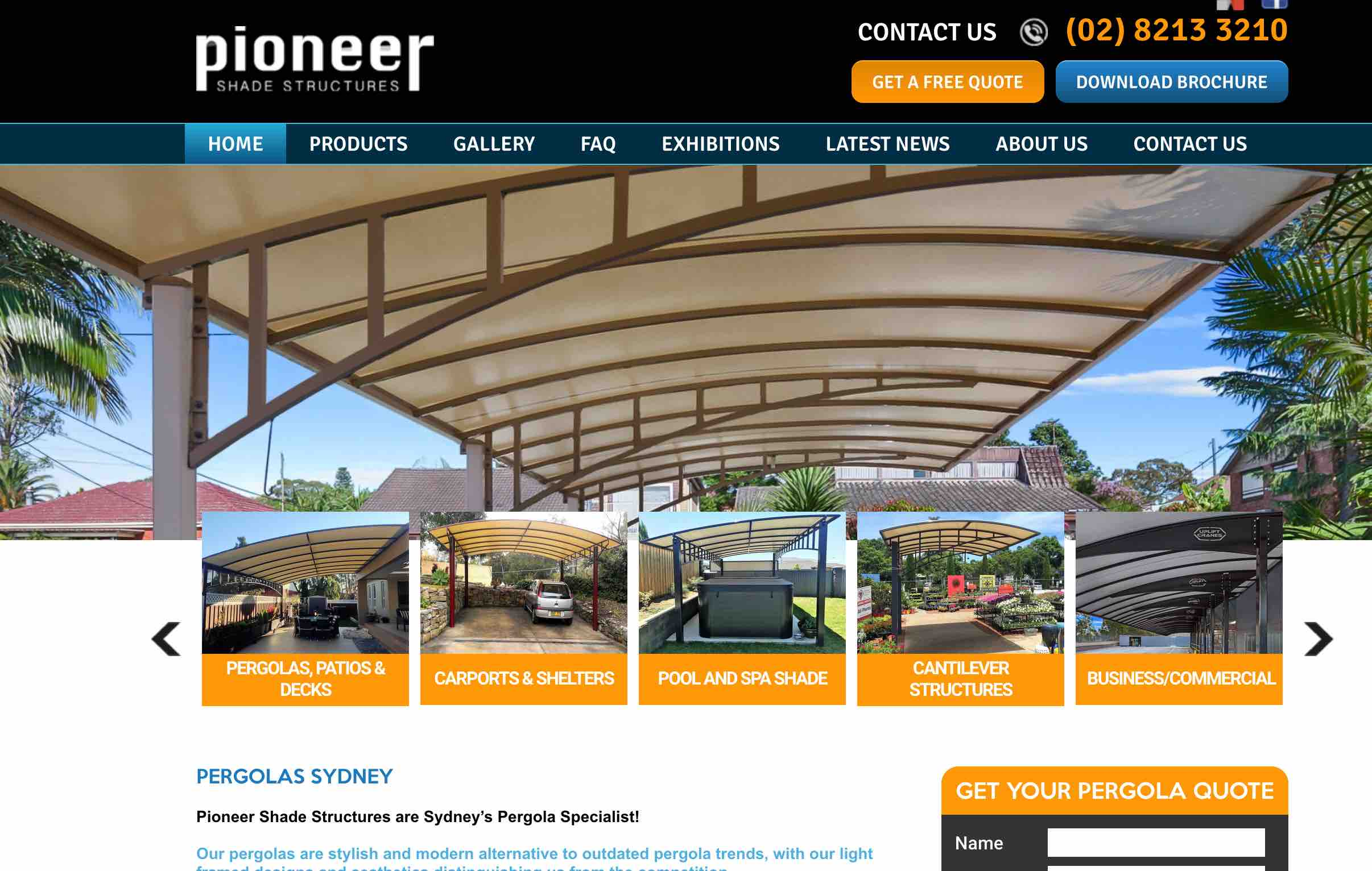 pioneer shade case study for seo sydney experts