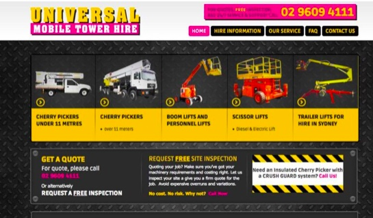 universal mobile tower hire - case study