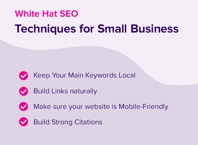 white hat techniques for small buisness